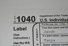 Form 1040 Photo